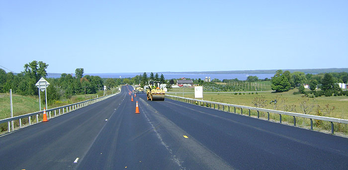 Seneca Stone Hot Mix Asphalt Used on a Highway Paving Project